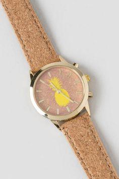 Pineapple Cork Watch