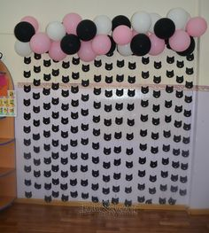 Festa da Mariska Kitten Party, Cat Party, Cat Birthday, 6th Birthday Parties, Aristocats Party, Fete Emma, Cat Themed Parties, Second Birthday Ideas, First Birthdays
