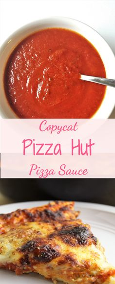 Combined with my pan pizza crust and toppings, this copycat Pizza Hut pizza sauce makes your homemade gluten free pan pizza taste JUST LIKE the original! Fool your family and even yourself 🙂 food recipe homemade cooked Copycat Pizza Hut Pizza Sauce Pizza Hut Copycat Recipe, Copycat Recipes, Pizza Recipes, Cooking Recipes, Pizza Hut Sauce Recipe, Restaurant Pizza Sauce Recipe, Homemade Pizza Sauce, Pizza Sans Gluten, Restaurant Recipes