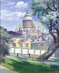 Matti Taskinen, maalaus 1934.  Uspenskin katedraali. Helsinki, Great Deals, Temples, Mansions, World, House Styles, Art, Finland, Mansion Houses