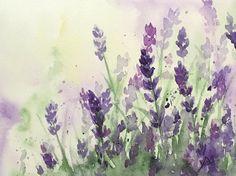 Original Watercolor Lavender Original by ColorOfChlorophyll