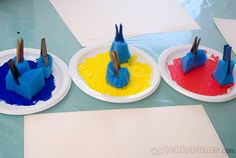 Clothespins and sponges--easy painting!
