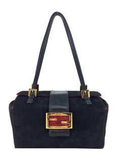 Fendi Suede Baguette Bag