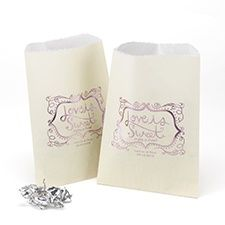 Love Is Sweet - Treat Bags - Ivory