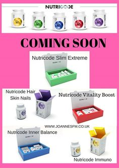 NUTRICODE - consist of:   NUTRICODE INNER BALANCE  NUTRICODE SLIM EXTREME  NUTRICODE VITALITY BOOST   NUTRICODE IMMUNO  NUTRICODE HAIR SKIN NAILS    We have developed five programs that complement one another and are a response to the needs of modern man. Our programmes will help you get back in shape stand on your feet and regain strength! - http://ift.tt/1HQJd81