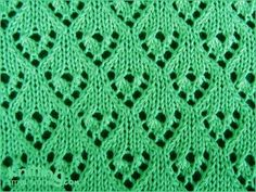 Lacy Heart Curtain stitch pattern