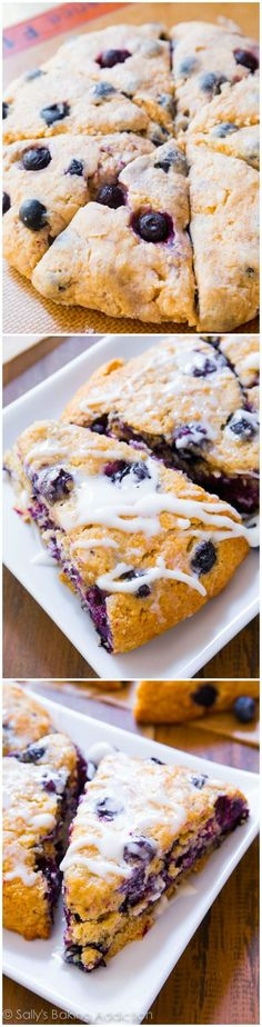 Buttery, moist, and tender on the inside with a slight crisp on the edges. These blueberry scones are the BEST!