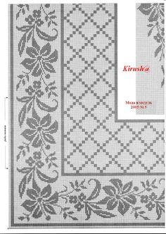 Best 12 Kira scheme crochet: Scheme crochet no. Filet Crochet, Crochet Patterns Filet, Crochet Borders, Crochet Motif, Crochet Doilies, Crochet Lace, Crochet Flower, Beaded Cross Stitch, Cross Stitch Borders