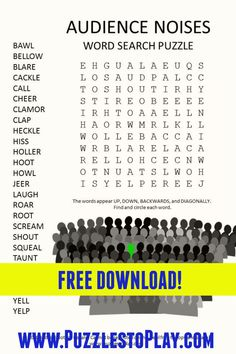 Free Word Search Puzzles, Kids Word Search, Printable Puzzles, Free Printable, Printables, Puzzle Games, Classroom Games, Word Games, Worksheets For Kids