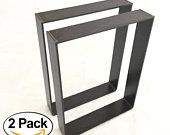 2 Pack - Wide - Thick Metal) (Size Range: x Square Rustic Reclaimed Coffee Table bench Legs Steel Rectangle Bracket