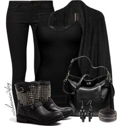 """""""Black"""" by airbornewifey ❤ liked on Polyvore"""