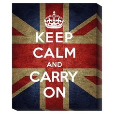 I pinned this Keep Calm and Carry On Wall Art from the Word for Word event at Joss and Main!  Good advice :-)