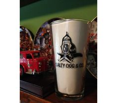 Gettin' Salty Logo Pint Glass Be part of the Salty Dog crew. After a tough day of gettin' it done, it's time to take blow. Firefighter Home Decor, Tough Day, Pint Glass, Mugs, Beer Glassware, Tumblers, Mug, Cups