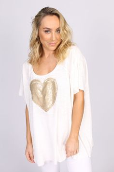 Heart Of Gold Top – Erin Louise