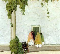 'Four Shawled Women', by William Victor Higgins.  (1884-1949)