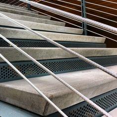Precast Stair Treads w/ sandblast nosings Project: SCC- Wood Construction Center Architect: Schreiber Starling & Lane www.CSI-Precast.com
