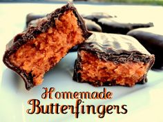 "homemade butterfingers only 3 ingredients!  hmmm sounds good.. but im a little skeptic! ill definently have to suffer through ""testing"" this recipe out lol"