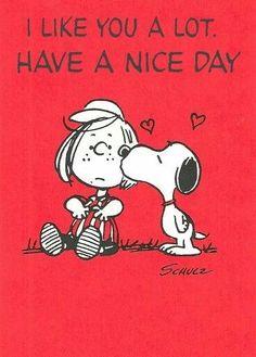Snoopy kisses