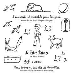 Planche tatouages éphémères Le petit Prince by Bloom