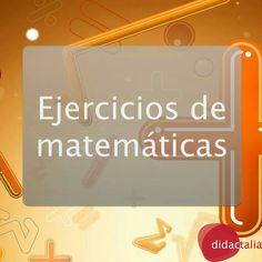 Ejercicios de matemáticas. Problemas de calculo mental