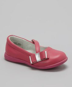 Take a look at this Fuchsia & Silver Bow Flat by L'Amour Shoes on #zulily today!