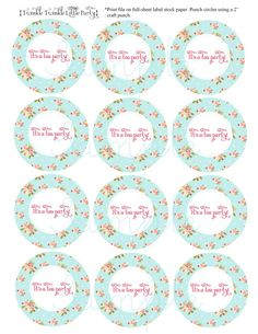 tea party place cards printable