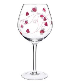 Loving this Pink Balloon Social Ave Red Wineglass - Set of Two on #zulily! #zulilyfinds
