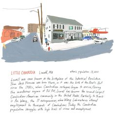 America is known for being a cultural melting pot. You've heard of Little Italy in NY but how about Little India in PA? Discover all of America's little cities. Little Italy, Melting Pot, Cambodia, Outdoor Blanket, America, City, Art Prints, Illustration, Art Impressions