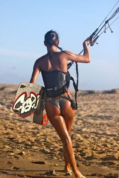 Kite #surf sexy #girl Learn kitesurfing with Addict kiteschool Tarifa www.addictkitesch... |