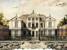 Bidziński Palace in Warsaw by Anonymous Painter, ca. 1705 (PD-art/old), Nationalmuseum in Stockholm Facade Design, Perfect World, Drawings, Painting, Frans, Outlines, Homeland, Anonymous, Stockholm