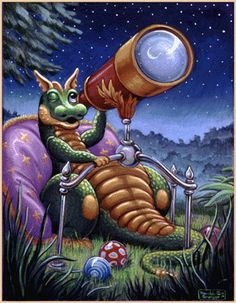 Painted by Randal Spangler, the Stargazing wall mural from Murals Your Way will add a distinctive touch to any room. Magical Creatures, Fantasy Creatures, Dragon Cat, Cartoon Dragon, Cute Dragon Drawing, Art Fantaisiste, Mythical Dragons, Murals Your Way, Dragon's Lair
