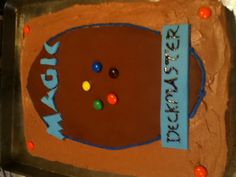 Magic -The Gathering cake. Not well made but I like the m idea