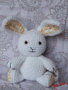 crochet rabbit $25.00 22x13cms (8x5inches) Mini Willow@facebook Sold