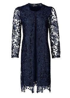 Longline Floral Lace Jacket Lace Jacket Wedding, Long A Line, Floral Lace, Linens, Tunic Tops, Jackets, Collection, Dresses, Design