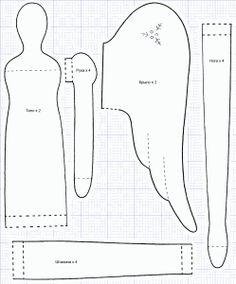 Выкройка Тильды: Детали туловища, ручки, крыльев, ножек и штанишек. Как сшить…