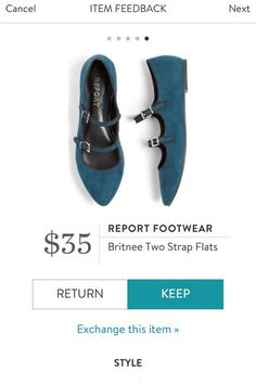 REPORT FOOTWEAR Britnee Two Strap Flats from Stitch Fix. https://www.stitchfix.com/referral/4292370