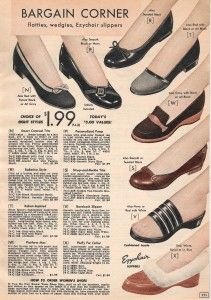 Women's 1950's Shoes Styles- 1957 Slippers and Flats