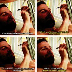 Stephen :)  #Arrow Season 4 Gag Reel