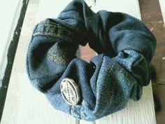 ヴィンテージ デニム シュシュの作り方|編み物|編み物・手芸・ソーイング|アトリエ