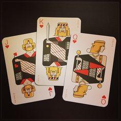 Norse hearts: Skírnir, Freyr, Freya (Freyja). Playing cards from Icelandair. - @graypilgrim- #webstagram
