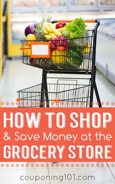 How to shop and save money at the grocery store! Tips for how to read a sales flier, find the best prices, and match up coupons.