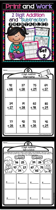 2 Digit Addition and Subtraction  Do your students need extra practice with 2 digit addition and subtraction? Then these worksheets are just what you need. I know my students struggle with this concept, but with much practice they get the hang of it and can move on to 3 digit addition and subtraction.