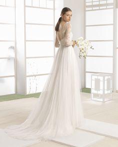 WELTER vestido novia en color natural/nude