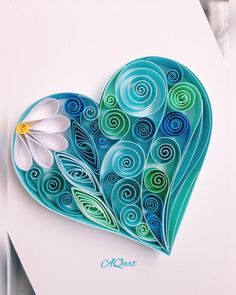 Quilled Paper Art 'Blue Heart'-Unique Valentine's Gift-Quilling Art-Blue Lover Gift-Love Gift-Gift for her-Gift for mom-Quilled Heart Paper Quilling Cards, Paper Quilling Flowers, Paper Quilling Patterns, Paper Quilling Jewelry, Neli Quilling, Quilled Paper Art, Quilling Paper Craft, Paper Crafts, Peacock Quilling
