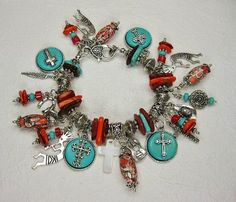 Western Charms Charm Bracelet  http://www.buckaroobay.com/catalog.php?item=7841 Available at BuckarooBay.com Buckaroo Bay Cowgirl Jewelry & Western Accessories