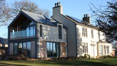 Contemporary two-storey extension and complete refurbishment of an existing 18th century farmhouse in a stunning rural location in East Lothian.
