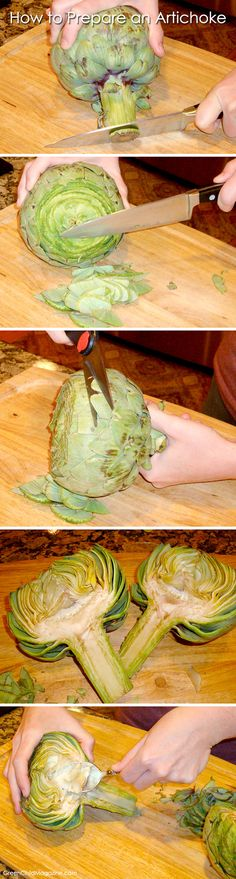 How to Prepare an Artichoke - directions and recipes,artichokes are so delicious!!! Try stuffing them and steaming them.