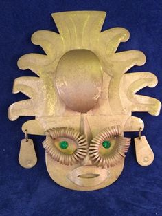 Vintage Handmade Metal Tribal Tiki Face Wall Hanging | eBay