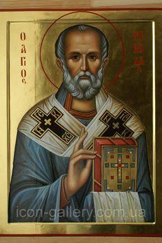 Byzantine Icons, Byzantine Art, Religious Icons, Religious Art, Old Fashion Christmas Tree, Retro Christmas, Saints For Kids, Ancient Scripts, Santa Pictures