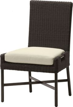 Dining Side Chair by Thomas Pheasant - Cut Out Design, Clean Design, Front Deck, Luxury Interior, Outdoor Furniture, Outdoor Decor, Side Chairs, Seat Cushions, Room Inspiration